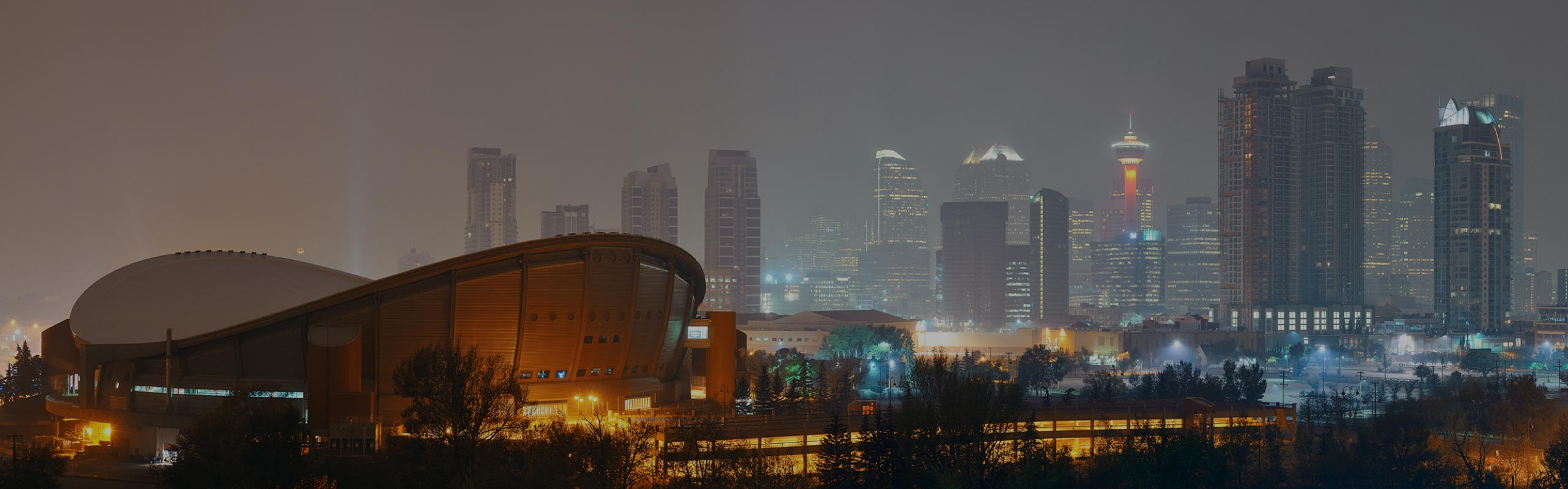 Calgary, Alberta skyline at night